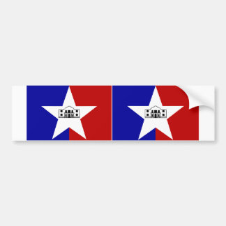 TWO San Antonio Flag Bumper Sticker