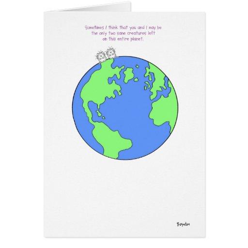 TWO SANE CREATURES Boynton Greeting Card