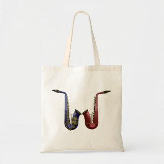 Two Saxophones Canvas Bag