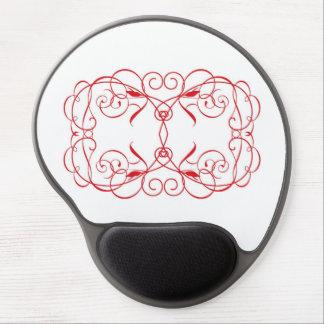 Two scroll hearts, gel mousepad. gel mouse pad