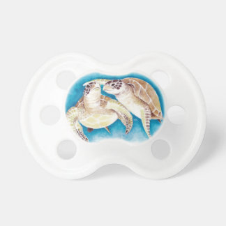 Two Sea Turtles Baby Pacifiers
