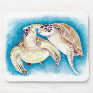 Two Sea Turtles Mouse Pad