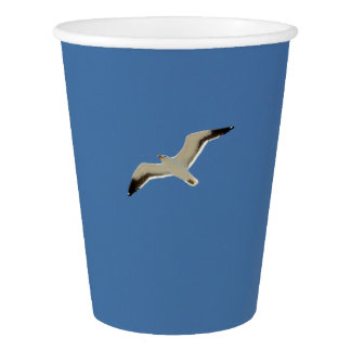 Two seagulls flying Sky Paper Cup