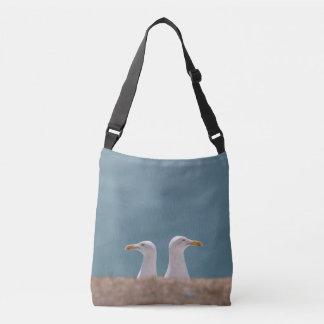 Two seagulls tote bag