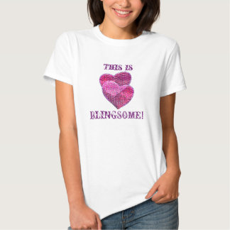 Two sequined herats blingsome t-shirt