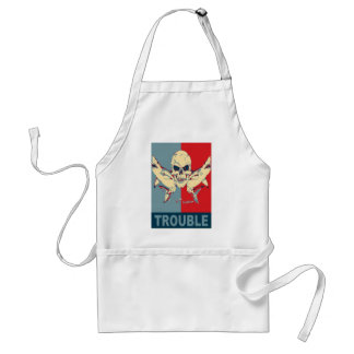 Two sharks and a skull-Double Trouble Adult Apron