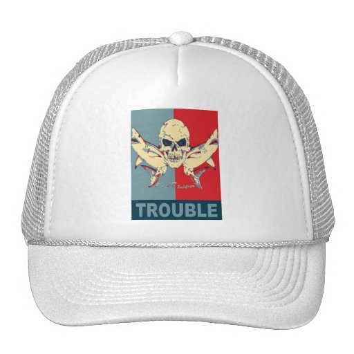 Two sharks and a skull-Double Trouble Mesh Hats