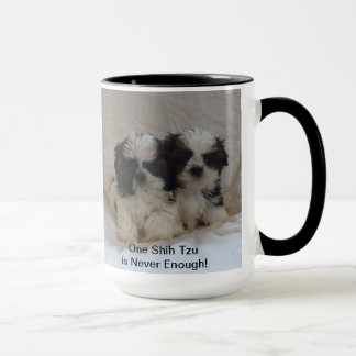 Two Shih Tzu Puppy Mug