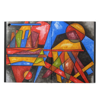 Two Ships-Abstract Art Hand Painted Geometric iPad Air Case