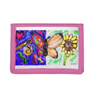 two side butterfly trifold wallet
