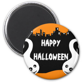 Two side ghosts Halloween magnet