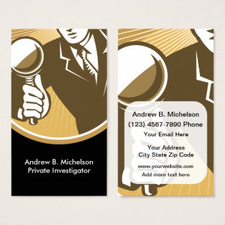 Two Side Private Investigator Business Card