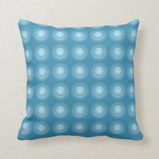 Two Sided Blue Button Throw Pillow