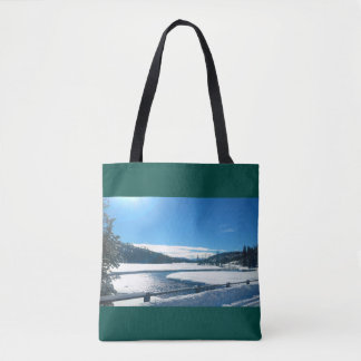 Two-sided Christmas in Yellowstone Tote