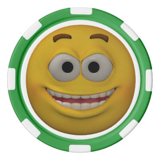 Two Sided Emoticon Kid's Poker Chips Set