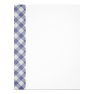 Two-Sided Gingham Paper 21.5 Cm X 28 Cm Flyer
