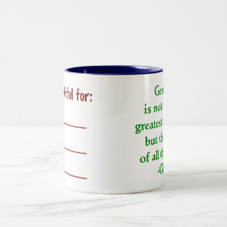 Two-sided Gratitude Mug