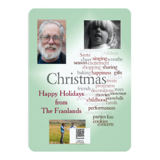 Two-sided Holiday Photo Template Greeting 13 Cm X 18 Cm Invitation Card