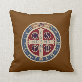 Two-Sided St. Benedict Medal Pillow