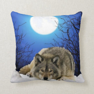 Two Sided Wolf Pillow