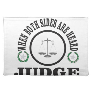 two sides then judge placemat