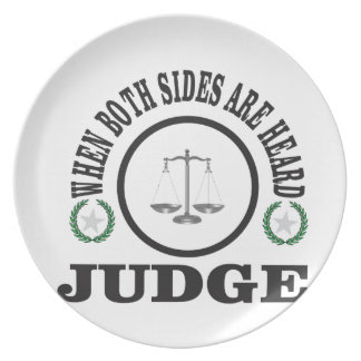 two sides then judge plate