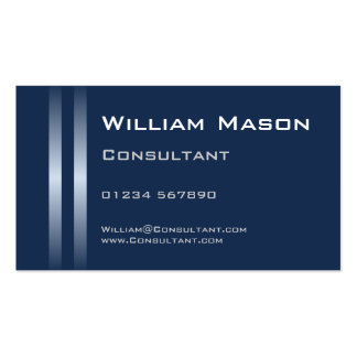 Two Silver Stripes Blue Business Card