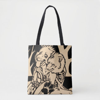 """""""Two Single Hearts on Fire"""" Tote Bag"""