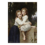 Two Sister 1901 Bouguereau Poster
