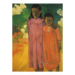 Two Sisters by Gauguin, Vintage Impressionism Art