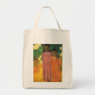 Two Sisters by Gauguin, Vintage Impressionism Art Tote Bags