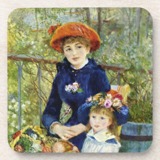 Two Sisters (On the Terrace) By Pierre Renoir Drink Coasters