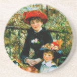 Two Sisters On the Terrace by Renoir Beverage Coasters