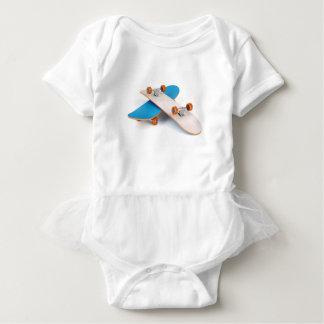 Two skateboards baby bodysuit