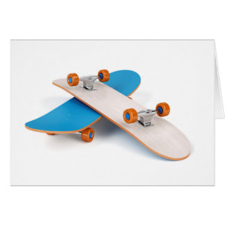 Two skateboards card