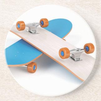 Two skateboards drink coaster
