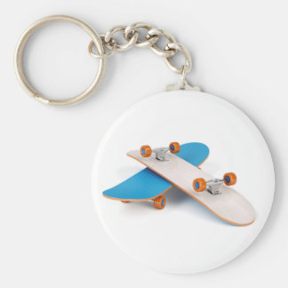 Two skateboards key ring