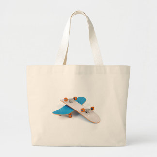 Two skateboards large tote bag