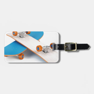 Two skateboards luggage tag