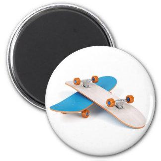 Two skateboards magnet