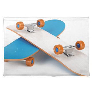 Two skateboards placemat