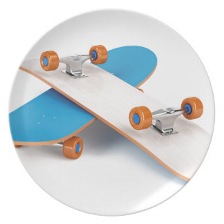Two skateboards plate