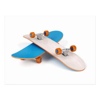 Two skateboards postcard