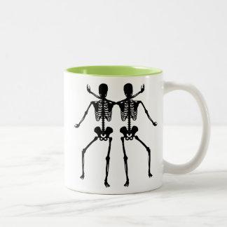 Two Skeletons Two-Tone Mug