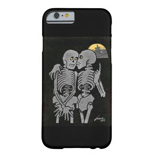 Two Skeletons Talking iPhone 6 Case