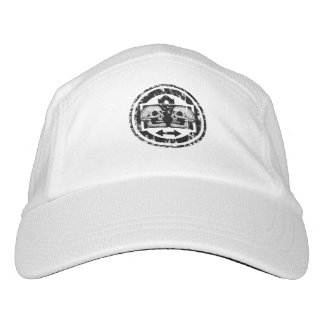 Two Skulls - Black & White Arrows -Distressed Logo Hat