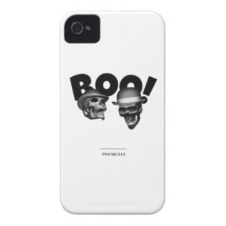 Two Skulls Boo! Case-Mate iPhone 4 Case