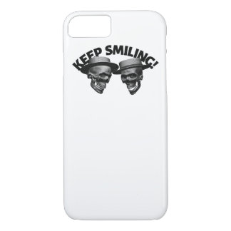 Two Skulls' Keep Smiling iPhone 8/7 Case