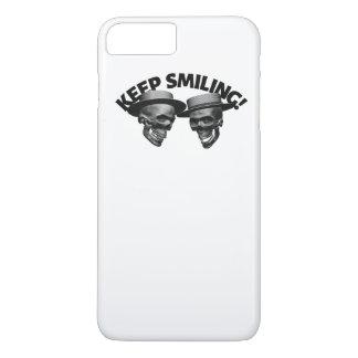 Two Skulls' Keep Smiling iPhone 8 Plus/7 Plus Case