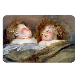 Two Sleeping Children - Peter Paul Rubens Magnet